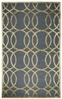 Home Afrozz Home Afrozz Madison Gray Geometric Rug MI1002
