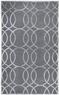 Home Afrozz Home Afrozz Madison Medium Gray Geometric Rug MI1008