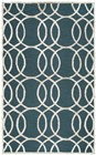 Home Afrozz Home Afrozz Madison Dk. Teal Geometric Rug MI1009