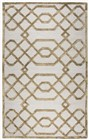 Home Afrozz Home Afrozz Madison Cream Geometric Rug MI1012
