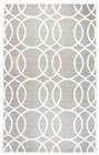 Home Afrozz Home Afrozz Madison Light Gray Geometric Rug MI1013