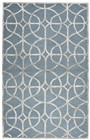 Home Afrozz Home Afrozz Madison Denim Geometric Rug MI1014