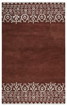 Home Afrozz Home Afrozz Lourdes Rust Solid Rug LU1003