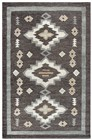 Home Afrozz Home Afrozz Durango Charcoal Southwest Rug DR1000