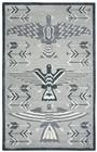 Home Afrozz Home Afrozz Durango Gray Southwest Rug DR1011