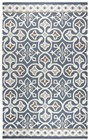 Home Afrozz Home Afrozz Lavish Blue / Gray Transitional Rug LV1001