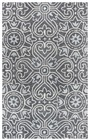 Home Afrozz Home Afrozz Lavish Gray Transitional Rug LV1011