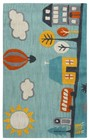 Home Afrozz Home Afrozz Playground Aqua Youth Rug PG1020