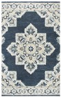 Home Afrozz Home Afrozz Cascade Dark Blue Transitional Rug CD1000