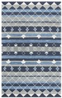 Home Afrozz Home Afrozz Cascade Blue Transitional Rug CD1010