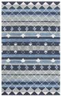 Home Afrozz Home Afrozz Cascade Blue Transitional Rug CD1010