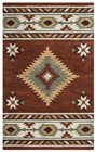 Home Afrozz Home Afrozz Ryder Rust Southwest Rug RY1000