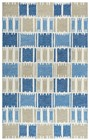 Rizzy Home  Tetra Transtional Blue Rug TET102
