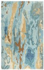 Home Afrozz Home Afrozz Flare Blue Modern Rug FR1001
