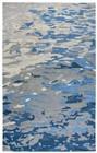 Home Afrozz Home Afrozz Flare Blue Modern Rug FR1005