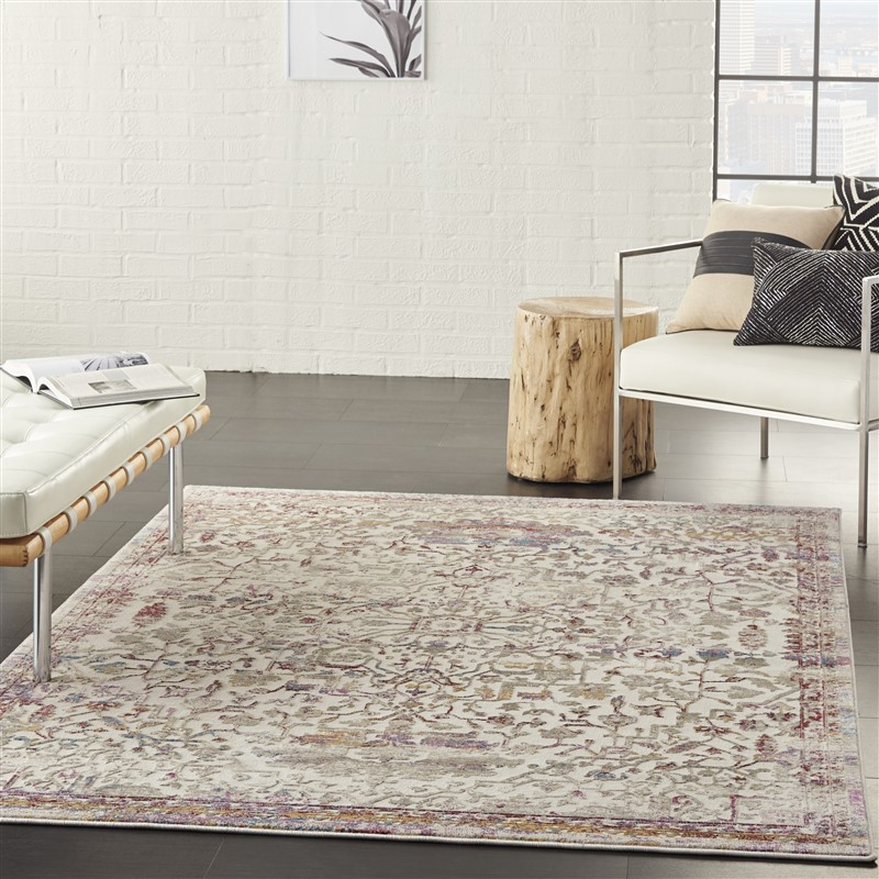 Nourison Melody MEL03  Ivory/Multi Traditional Area Rug