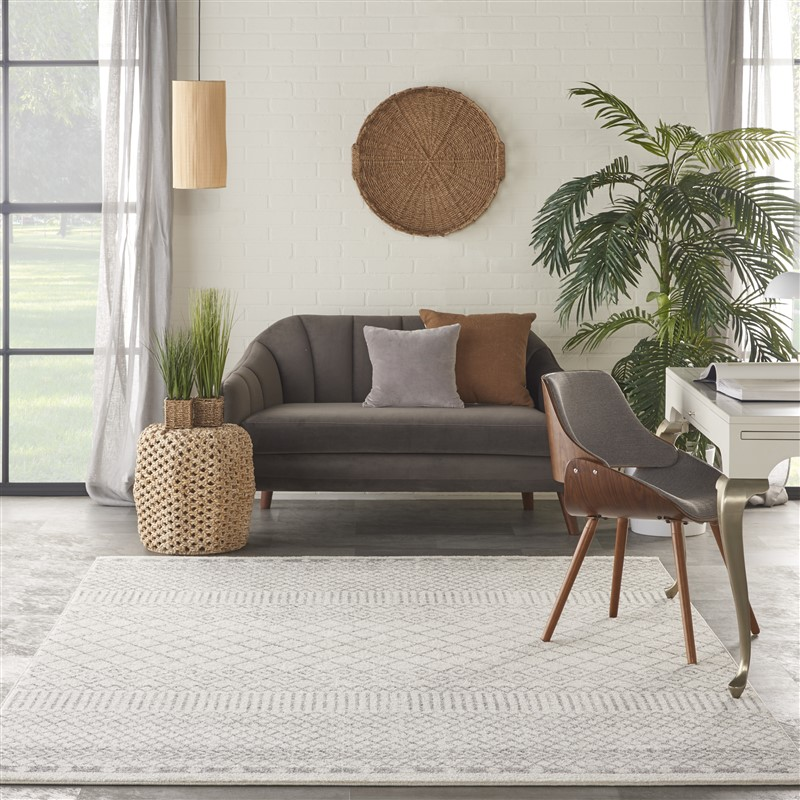Nourison Passion PSN42  Ivory/Grey Transitional Area Rug
