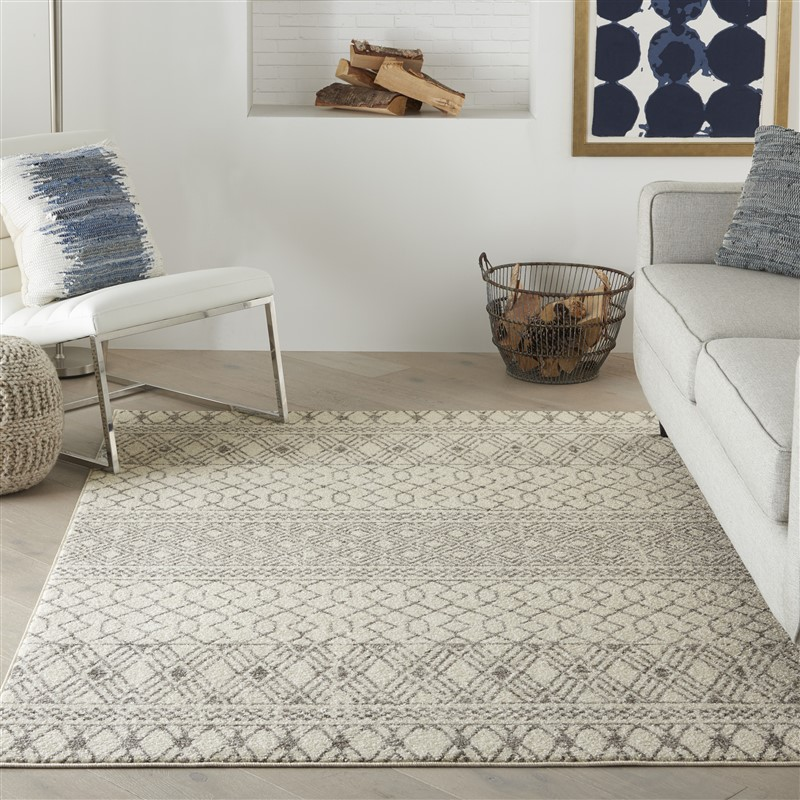 Nourison Passion PSN43  Ivory/Grey Transitional Area Rug